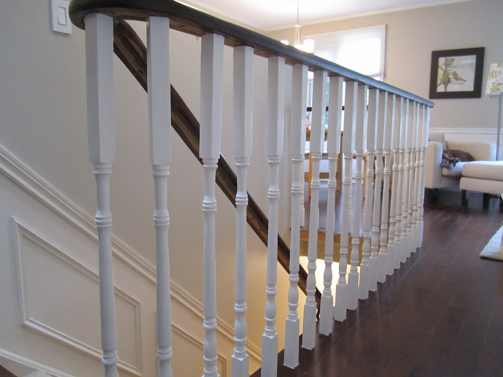 Image of: Basement Stairs Railing System