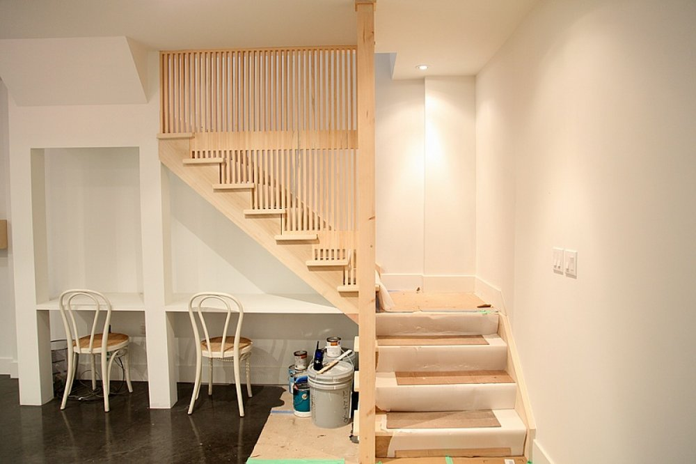 Image of: Basement Stairs Style