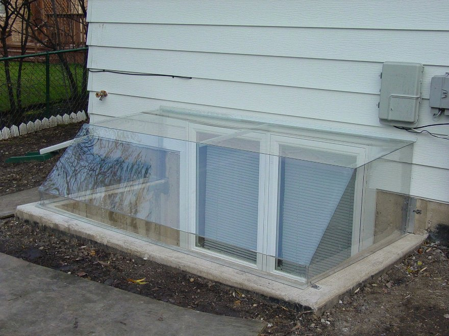 Picture of: Basement Window Well Covers Glass