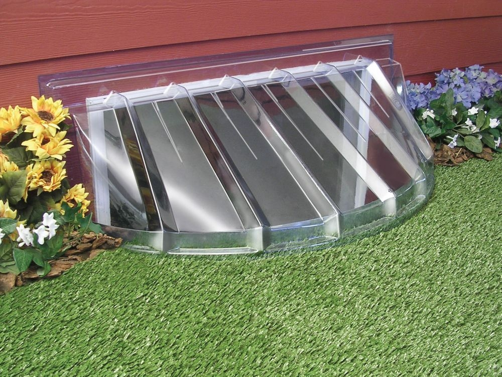 Picture of: Basement Window Well Covers Half