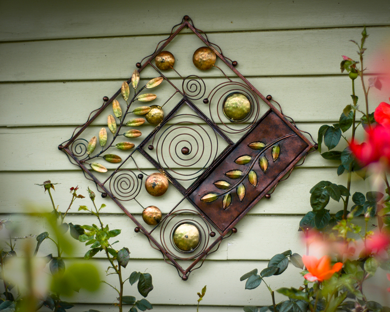 Beautiful Wrought Iron Outdoor Wall Decor Design