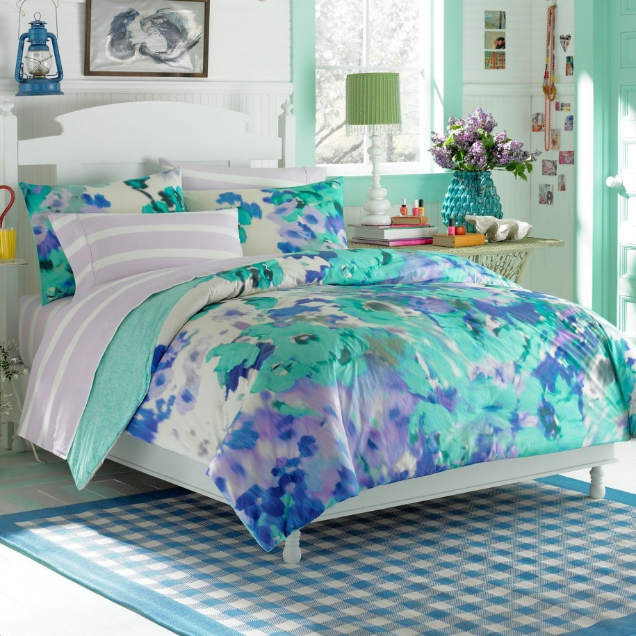 Image of: Blue Twin Mattress Cover