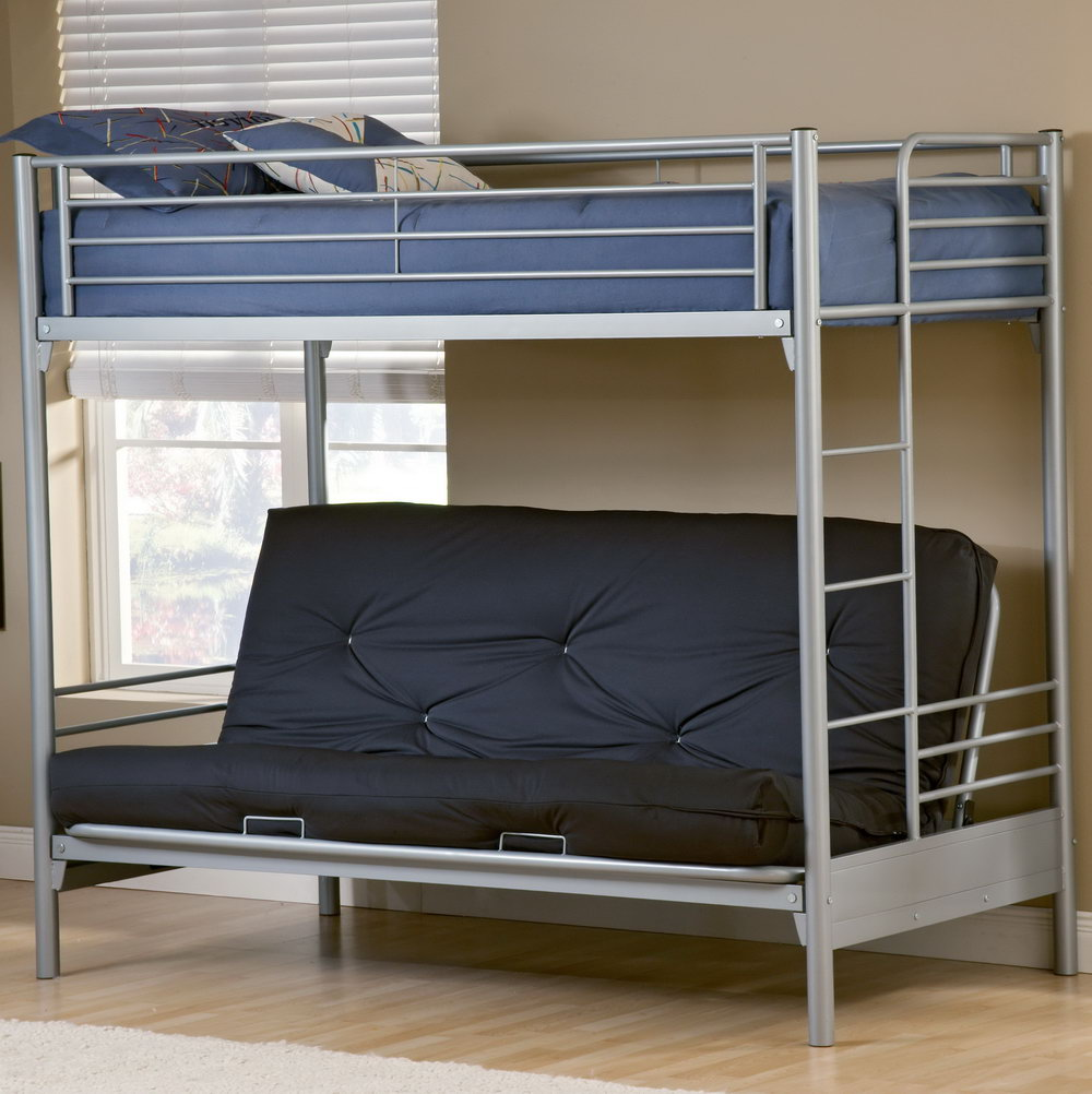 Image of: Child Futon Bunk Bed with Mattress Included
