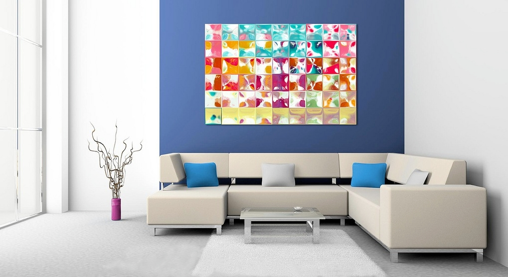 Image of: Colorful Contemporary Wall Art Decor