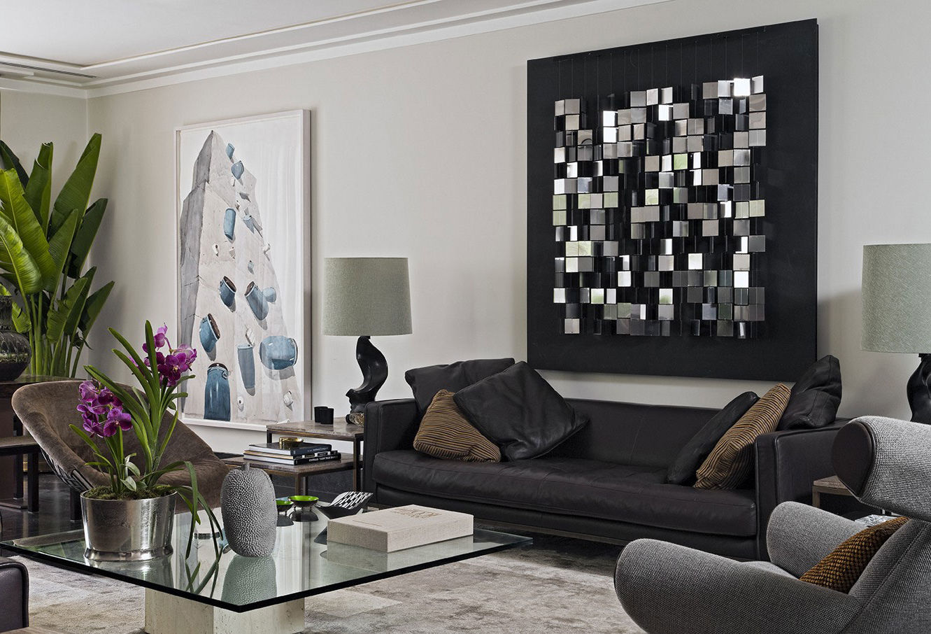 Image of: Contemporary Diy Living Room Wall Decorating Ideas