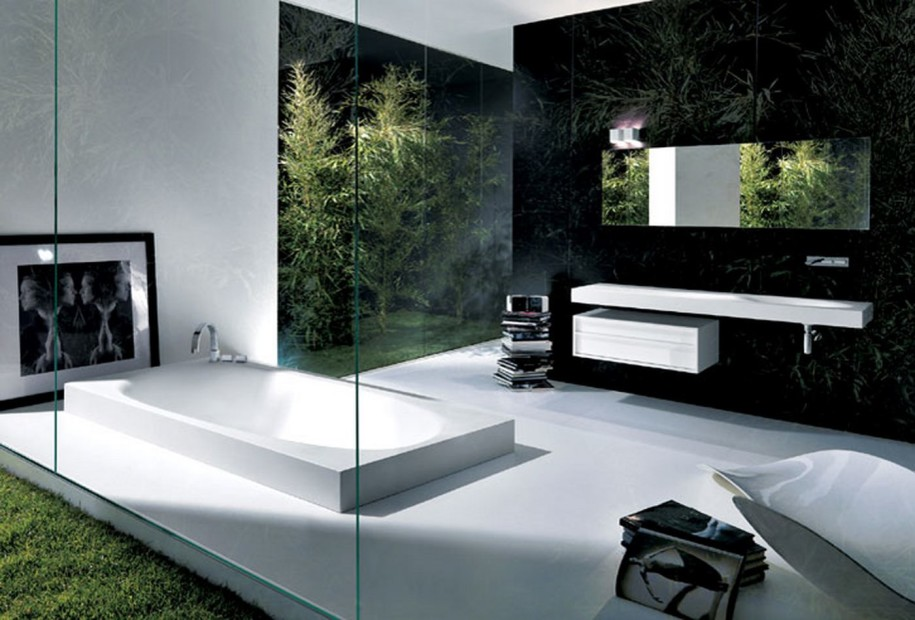 Image of: Contemporary Modern Bathroom Wall Decor