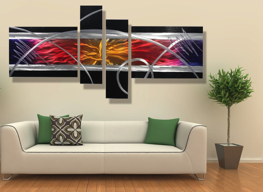 Image of: Contemporary Wall Art Decor Colors