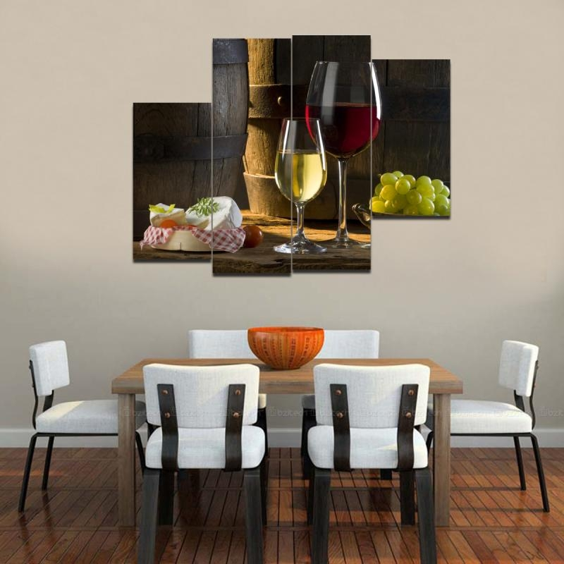 Image of: Contemporary Wall Art Decor Dining
