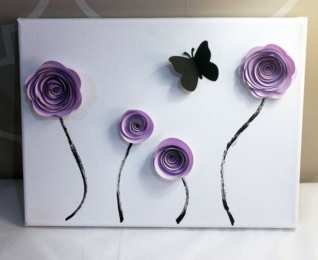 Image of: Contemporary Wall Art Decor Flowers