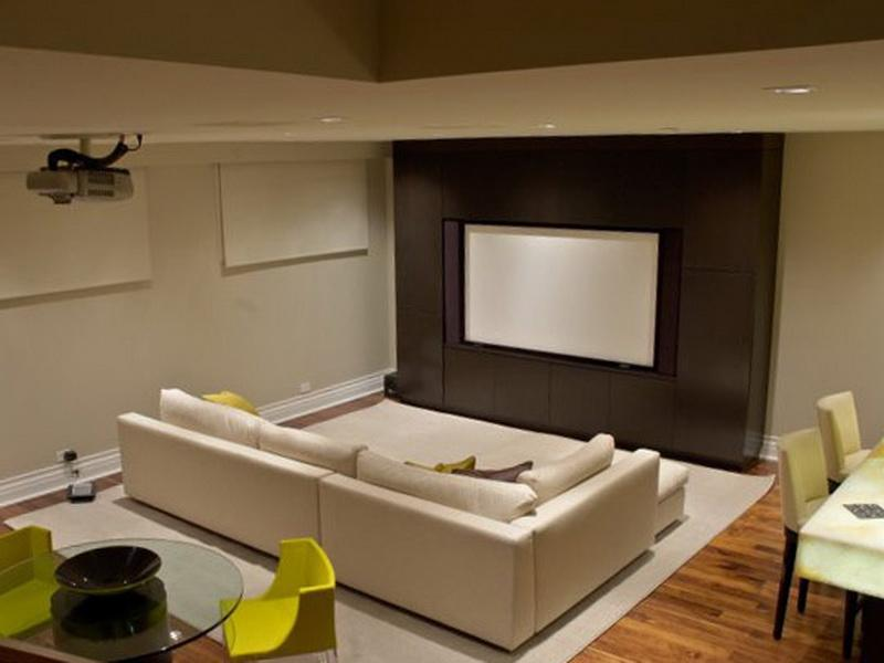 Image of: Cozy Basement Remodeling Pictures