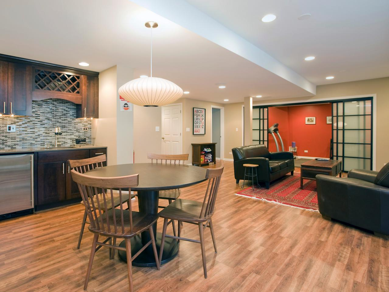 Dining Finished Basement Paint Colors