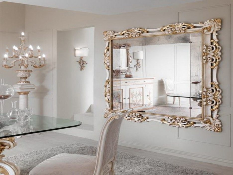 Image of: Dining Room Decorative Wall Mirror Sets