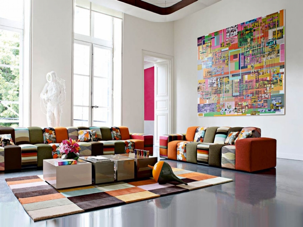 Diy Living Room Wall Decorating Ideas Colorful
