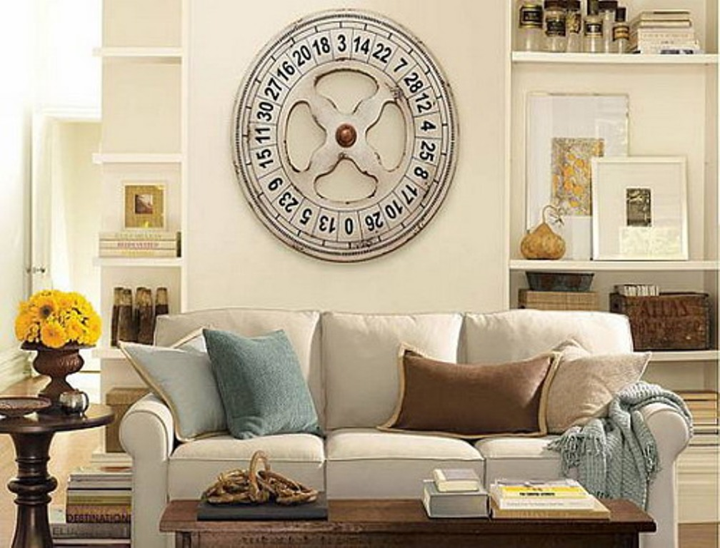 Image of: Elegant Large Wall Clock Decor Ideas