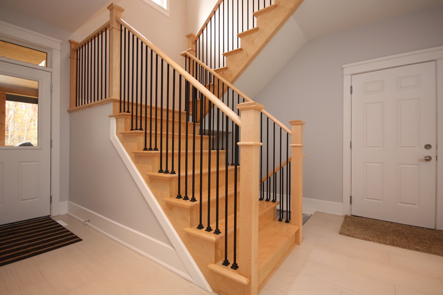Image of: Excellent Basement Stairs Railing