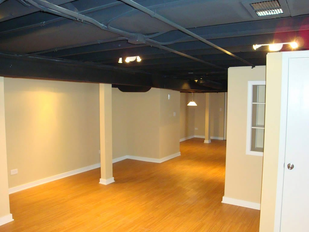 Exposed Basement Ceiling Ideas Blue