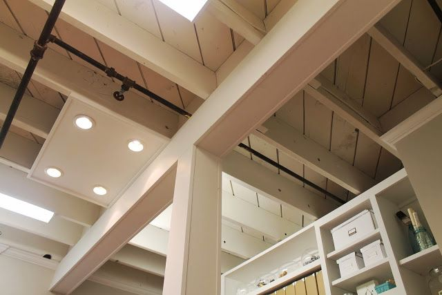 Exposed Basement Ceiling Ideas Cream