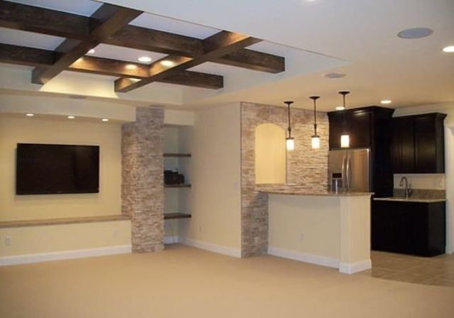 Exposed Basement Ceiling Ideas Modern
