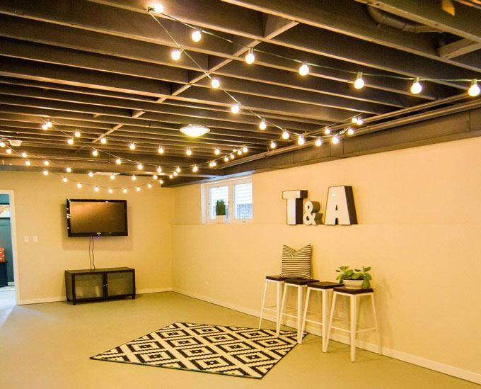Exposed Basement Ceiling Ideas Nice