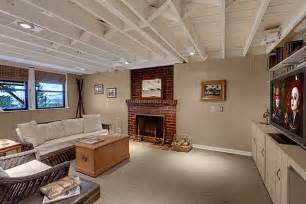 Exposed Basement Ceiling Ideas White