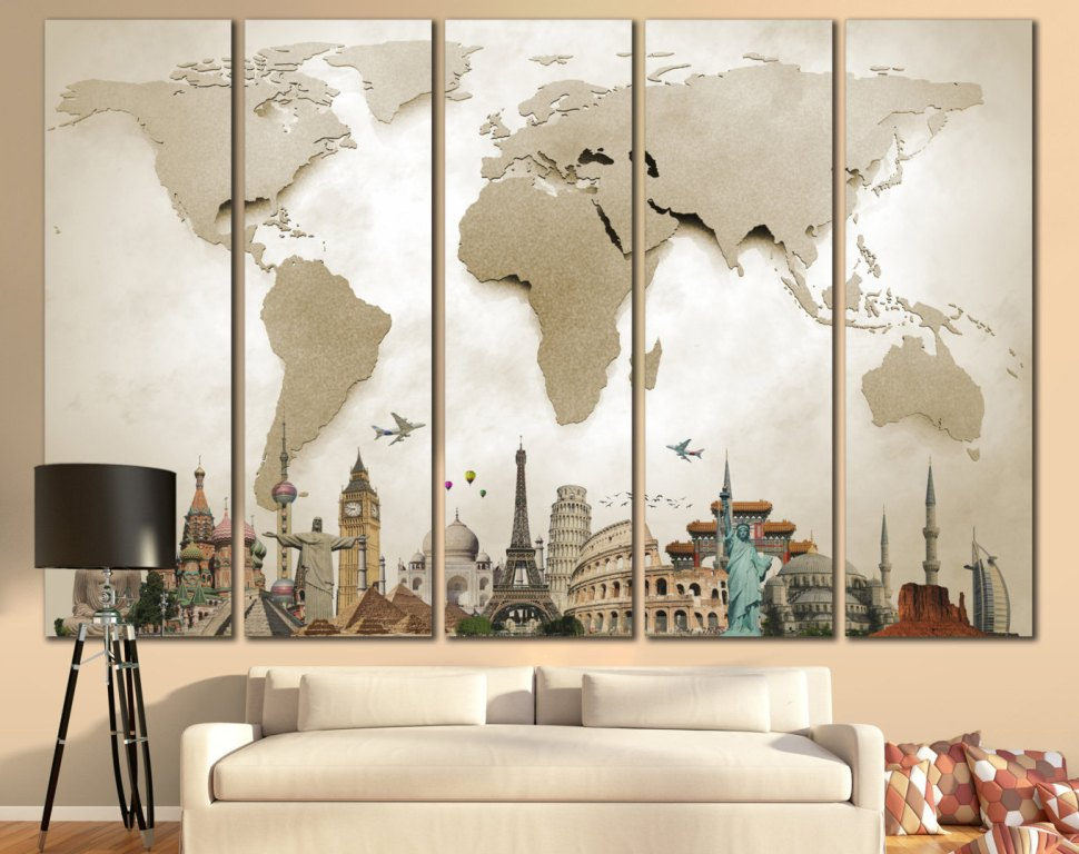 Extra Large Wall Decor Blue