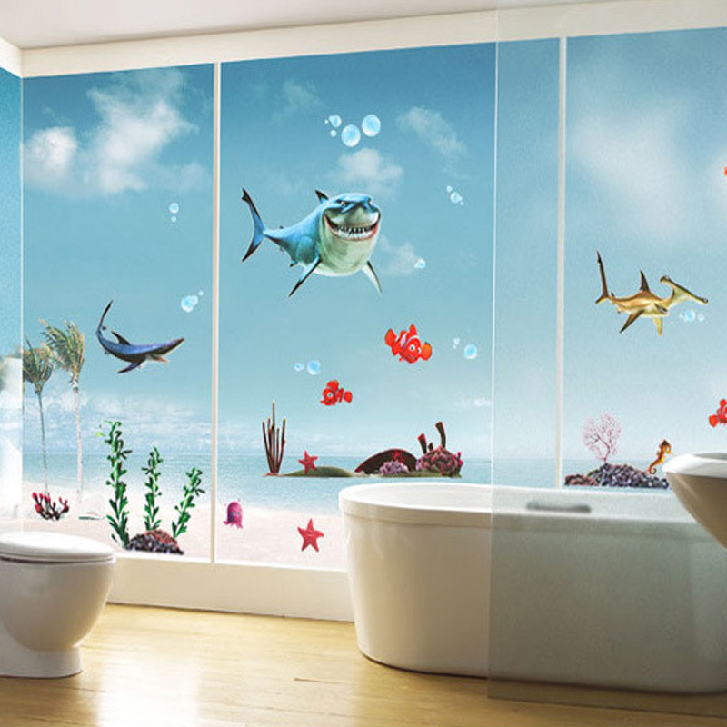 Picture of: Fish Wall Decor for Bathroom Cartoon