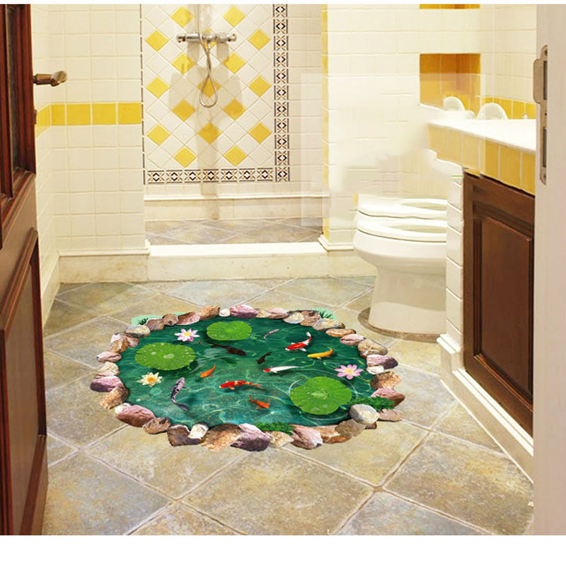 Image of: Fish Wall Decor for Bathroom Dimensions