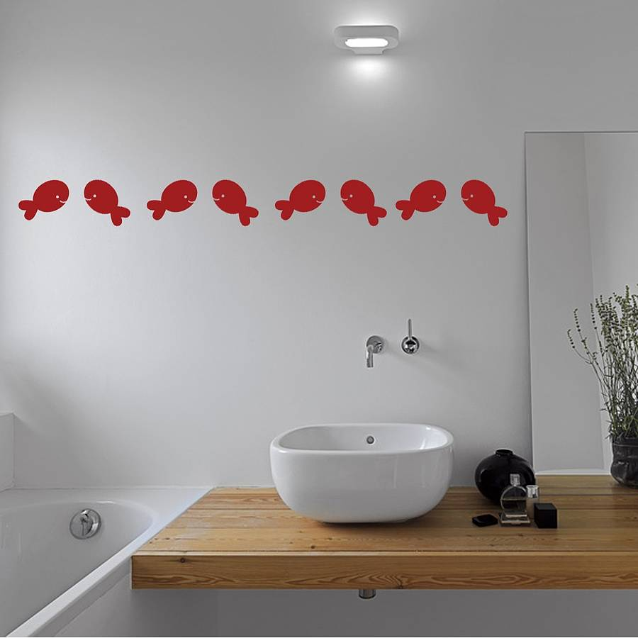 Picture of: Fish Wall Decor for Bathroom Set