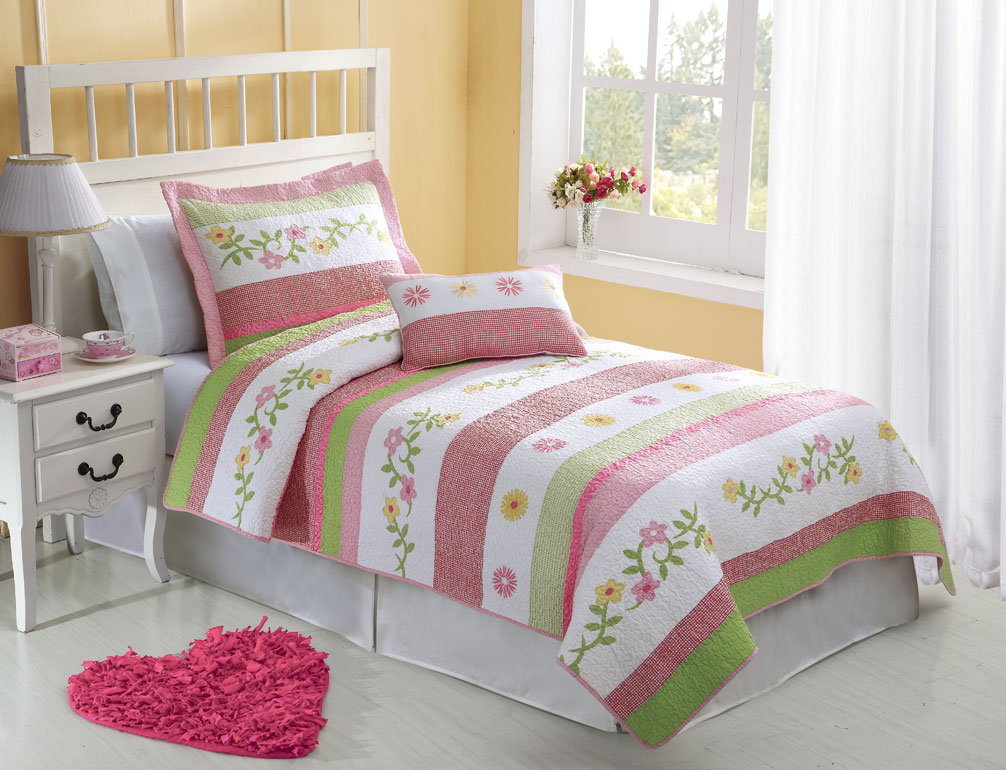 Image of: Flower Twin Mattress Cover