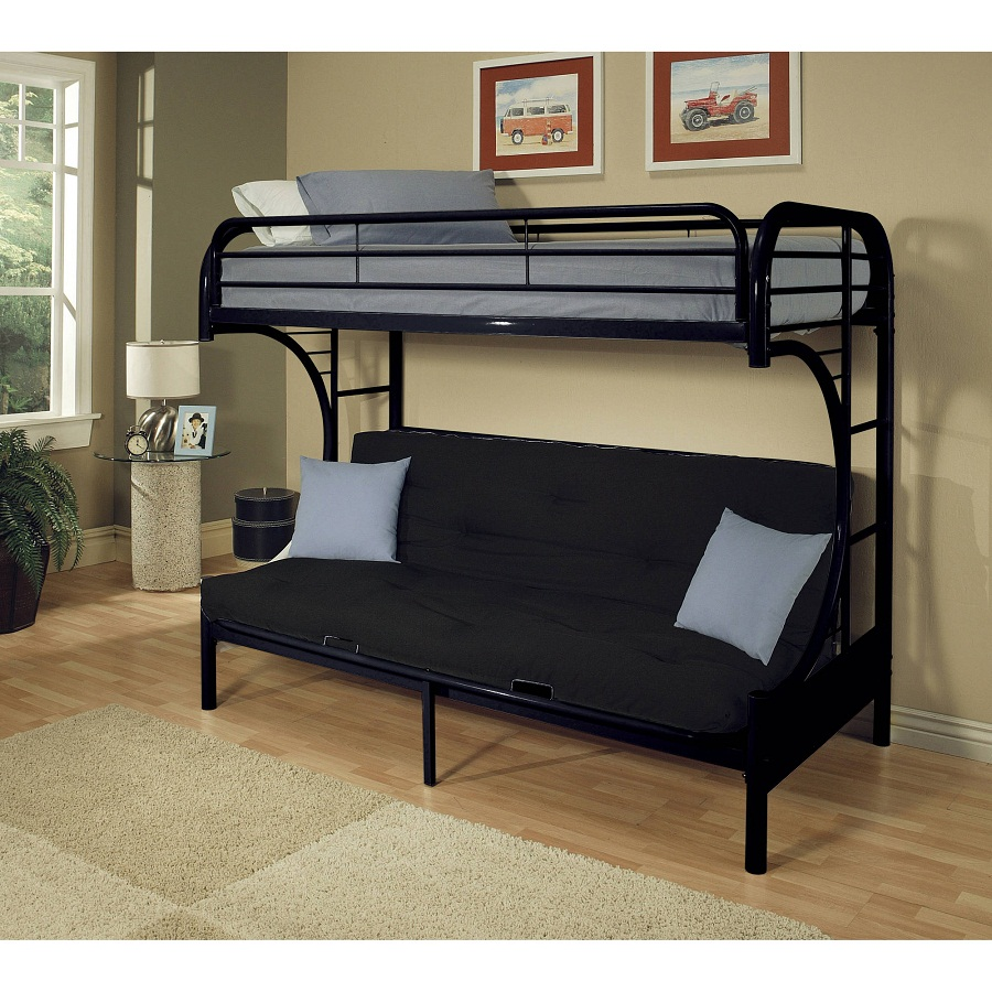 Image of: Futon Bunk Bed with Mattress Included Size