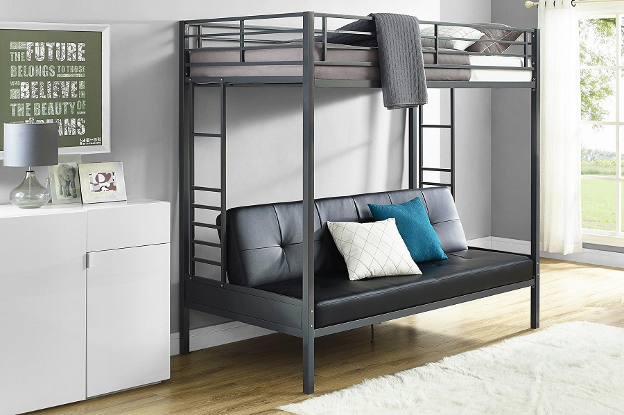 Image of: Futon Bunk Bed with Mattress Included Type