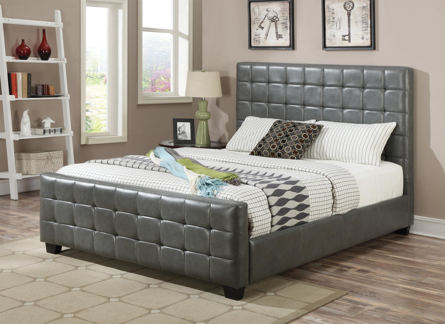 Grey California Queen Mattress