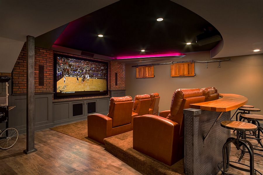 Image of: Home Theater Diy Basement Remodel