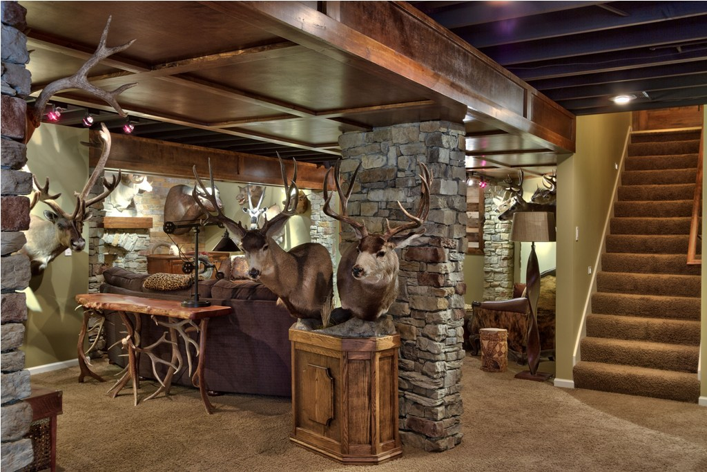 Picture of: How to Remodel a Basement Rustic