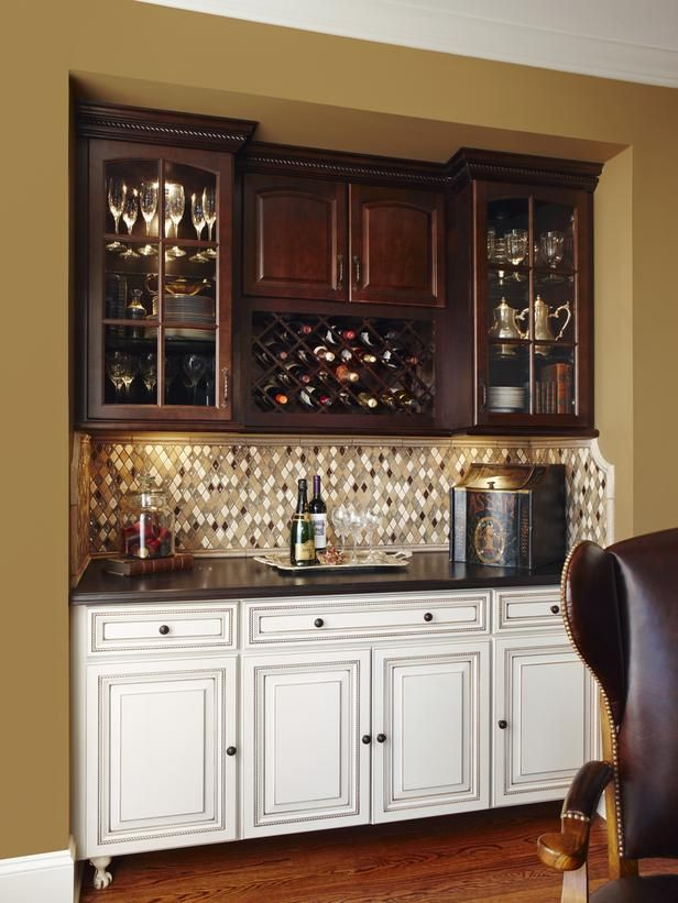 Image of: Ideas Basement Bar Cabinets