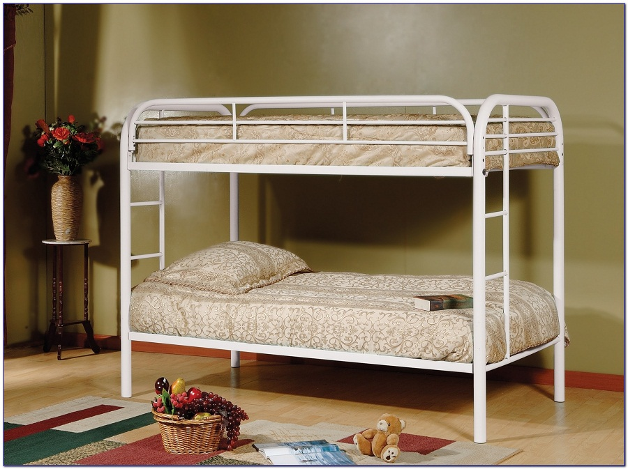 Image of: Kids Futon Bunk Bed with Mattress Included