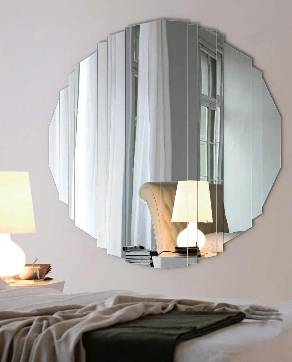 Image of: Large Round Mirror Wall Decor