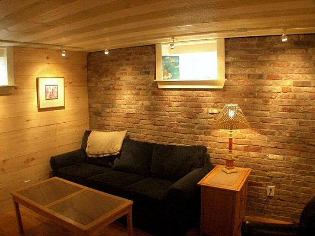 Image of: Lighting For Low Ceilings in Basement Apt