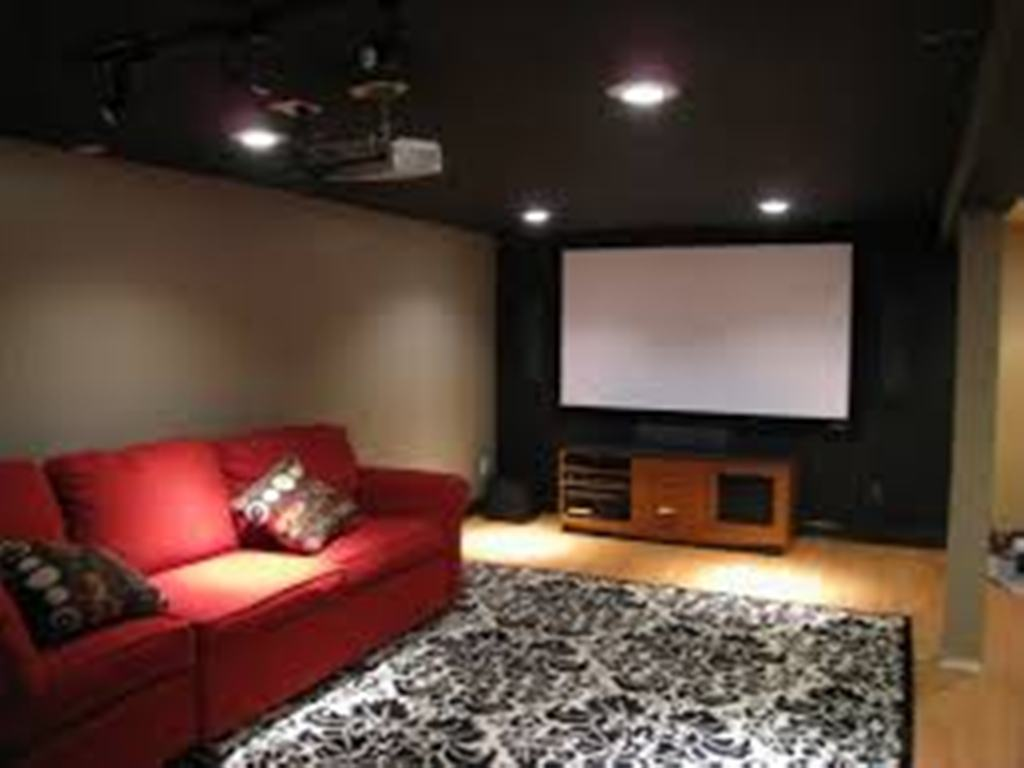 Image of: Lighting For Low Ceilings in Basement Room
