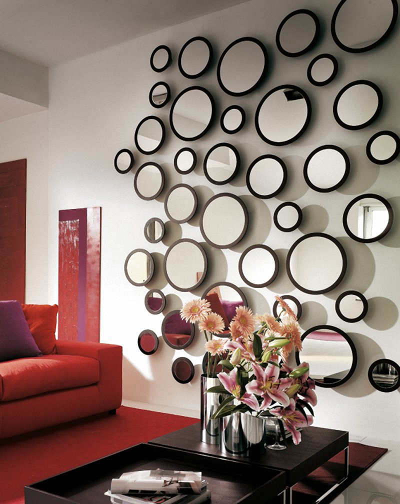 Living Room Decorative Wall Mirror Sets