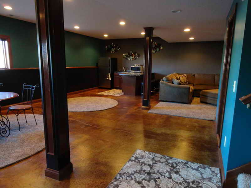 Modern Basement Concrete Wall Paint
