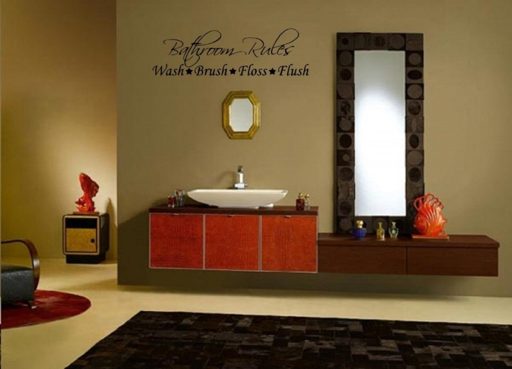 Image of: Modern Bathroom Wall Decor Ideas