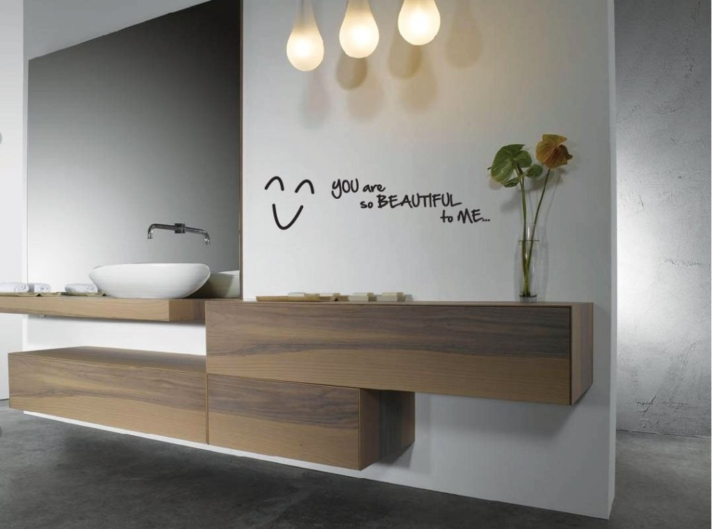 Image of: Modern Bathroom Wall Decor Style