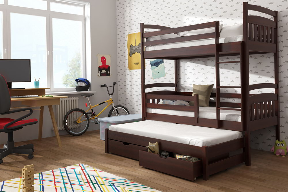Modern Futon Bunk Bed With Mattress Included
