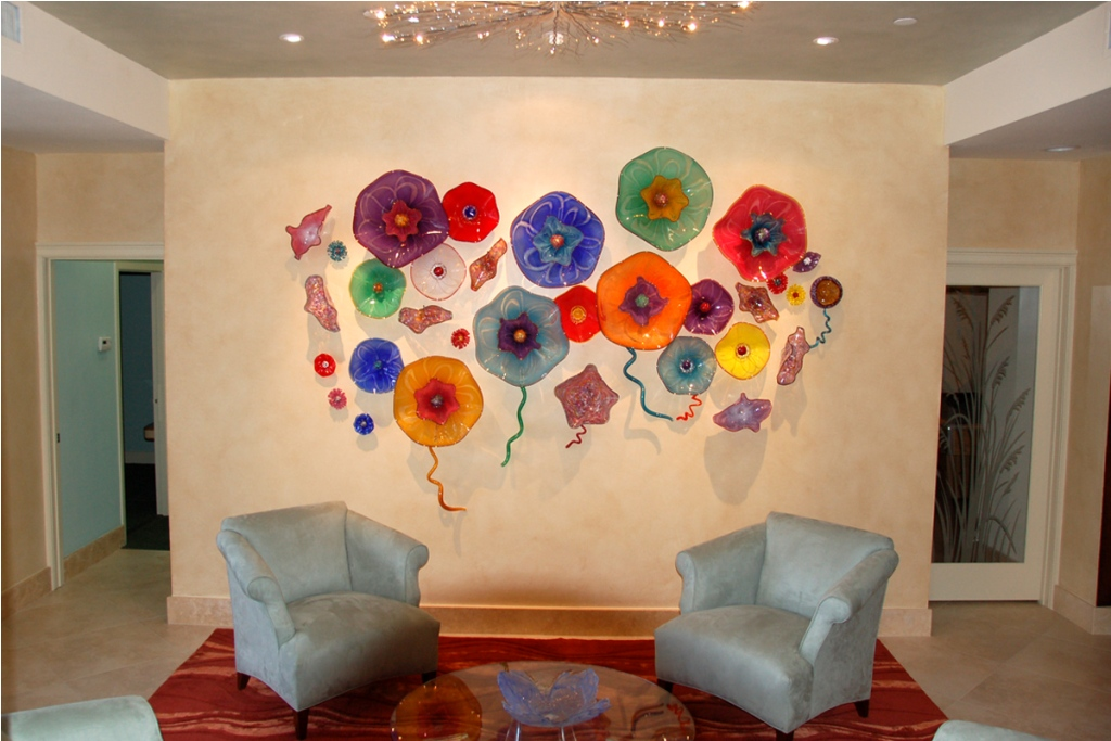 Picture of: Modern Glass Wall Art Decor Metal