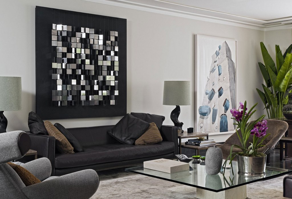 Picture of: Modern Glass Wall Art Decor Sets