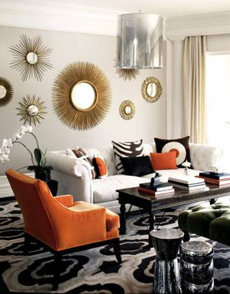 Image of: Modern Round Mirror Wall Decor