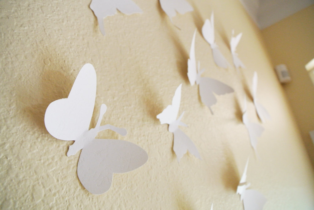 Modern Wall Decor Ideas With Butterfly Wall Art