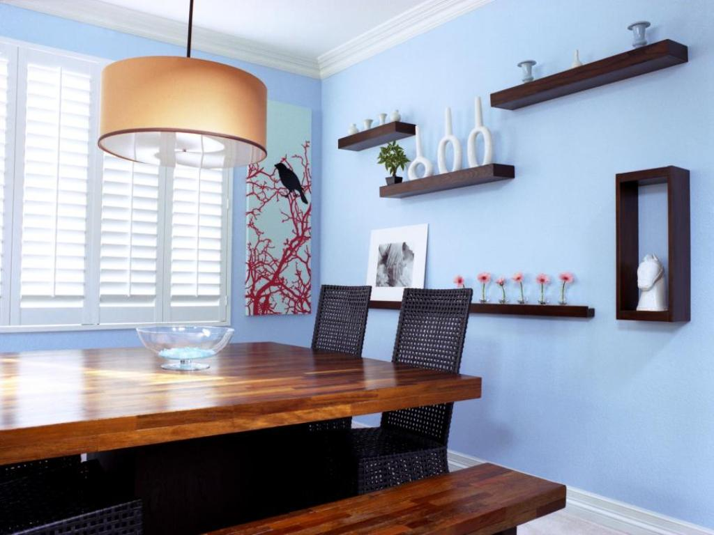 Picture of: Modern Wall Shelves Decorating Ideas Blue