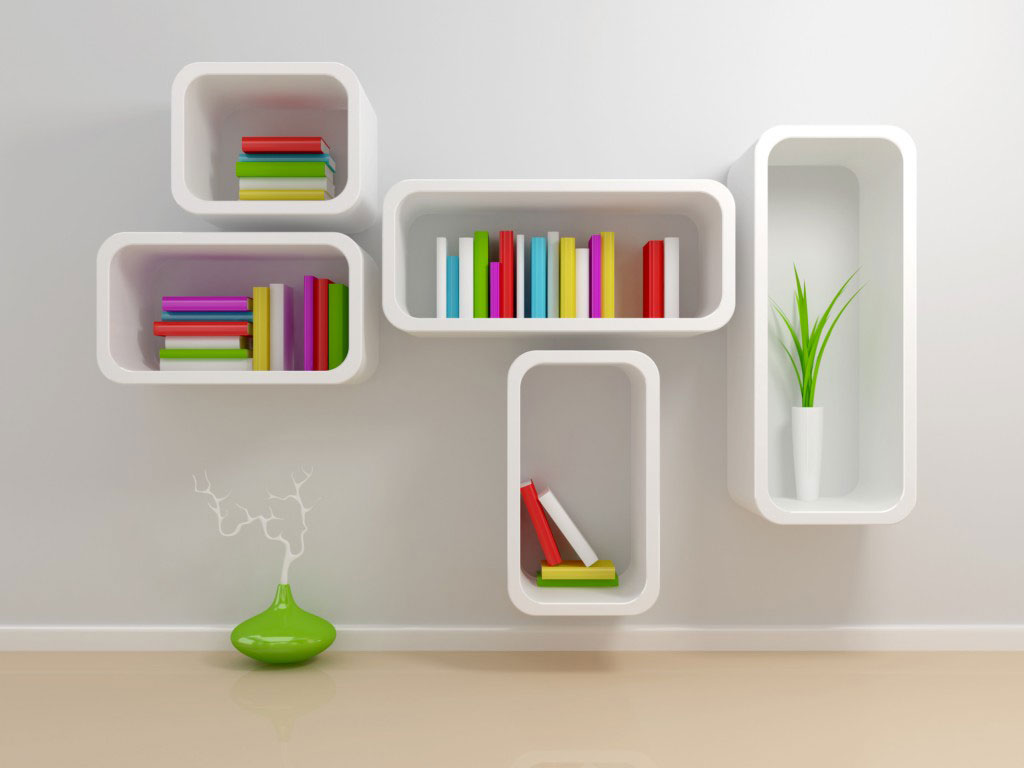 Image of: Modern Wall Shelves Decorating Ideas for Home